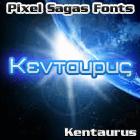 Sample image of Kentaurus font by Pixel Sagas