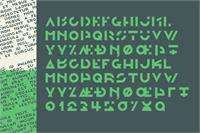 Sample image of Morgante font by Out Of Step Font Company