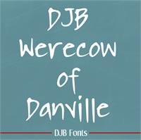 Sample image of DJB WERECOW OF DANVILLE font by Darcy Baldwin Fonts