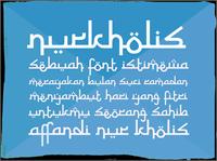 Sample image of Nurkholis font by Gunarta