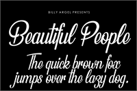 Sample image of Beautiful People Personal Use font by Billy Argel
