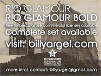 Sample image of Rio Glamour personal use font by Billy Argel