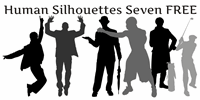 Sample image of Human Silhouettes Free Seven font by Intellecta Design