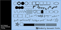 Sample image of KG Flavor and Frames Three font by Kimberly Geswein