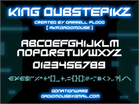Sample image of King Dubstepikz font by Darrell Flood