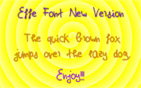 Sample image of EffeNewVersion font by Effe