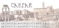 Sample image of Ceasar font by Fontomen