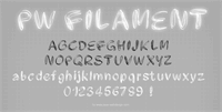Sample image of PWFilament font by Peax Webdesign