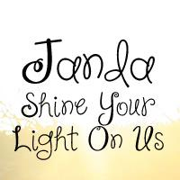 Sample image of Janda Shine Your Light On Us font by Kimberly Geswein