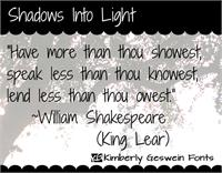 Sample image of Shadows Into Light font by Kimberly Geswein