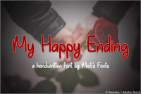 Sample image of My Happy Ending font by Misti's Fonts