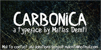 Sample image of Carbonica font by Matias Demti