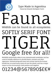 Sample image of Fauna One font by Eduardo Tunni