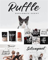 Sample image of Ruffle Script DEMO font by Konstantine Studio