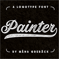 Sample image of Painter PERSONAL USE ONLY font by Måns Grebäck