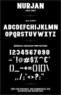 Sample image of Nurjan font by Twicolabs