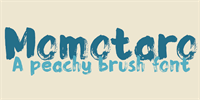 Sample image of DK Momotaro font by David Kerkhoff