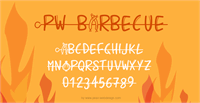 Sample image of PWBarbecue font by Peax Webdesign