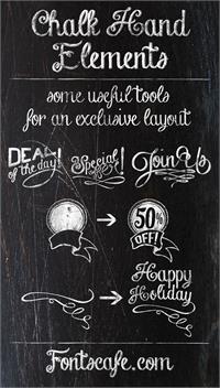 Sample image of Chalk-hand-lettering-shaded_dem font by FontsCafe