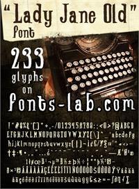 Sample image of Lady-Jane-old_free-version font by FontsCafe
