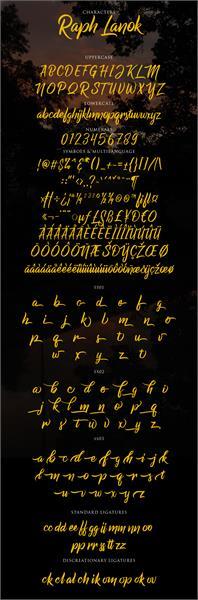 Sample image of Raph Lanok Future font by Alit Design
