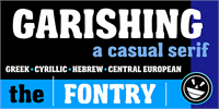 Sample image of Garishing Worse font by the Fontry