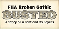 Sample image of Broken Poster font by the Fontry