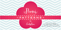 Sample image of Peoni Patterns font by Emily Lime Design