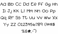Sample image of 2Peas Heart's Delight font by Two Peas