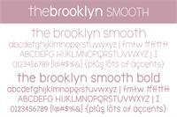 Sample image of The Brooklyn Smooth font by Brittney Murphy Design