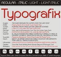 Sample image of Typografix font by studiotypo