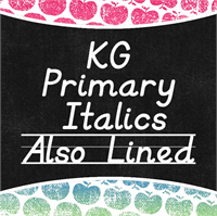 Sample image of KG Primary Italics font by Kimberly Geswein