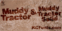 Sample image of Muddy Tractor font by KC Fonts