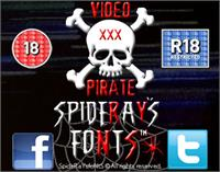 Sample image of VIDEO PIRATE font by SpideRaYsfoNtS