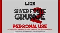 Sample image of Silver Forte Grunge font by LJ Design Studios