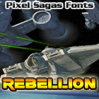 Sample image of Rebellion font by Pixel Sagas