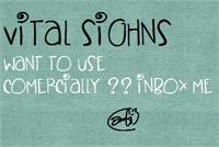 Sample image of VitalSighns font by Des