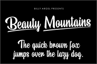 Sample image of Beauty Mountains Personal Use font by Billy Argel