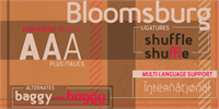 Sample image of Bloomsburg font by sharkshock