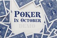 Sample image of Poker In October Demo font by Roland Huse Design
