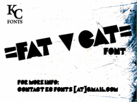 Sample image of Fat Cat font by KC Fonts