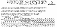 Sample image of Wicked Mouse font by sharkshock