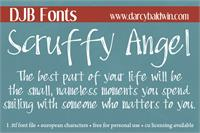 Sample image of DJB Scruffy Angel font by Darcy Baldwin Fonts