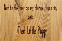 Sample image of That Little Piggy font by David Kerkhoff