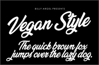 Sample image of Vegan Style Personal Use font by Billy Argel