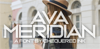 Sample image of Ava Meridian font by Chequered Ink