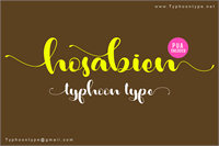 Sample image of Hosabien font by Typhoon Type - Suthi Srisopha