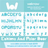 Sample image of Eskimo and Polar Bear font by weknow