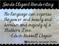 Sample image of Janda Elegant Handwriting font by Kimberly Geswein