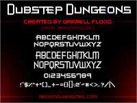 Sample image of Dubstep Dungeons font by Darrell Flood